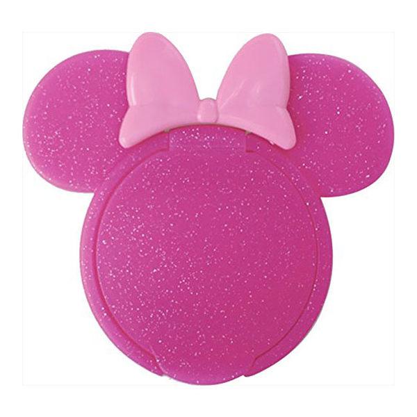 日本 迪士尼 Disney 米妮重覆黏貼濕紙巾專用盒蓋/濕巾蓋-桃X亮片