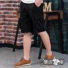 【7338】超輕薄多口袋伸縮休閒工作短褲(黑色)● 樂活衣庫