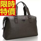 真皮行李袋(小)-出差可肩背好收納個性男手提包1色59c5【巴黎精品】
