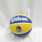 WILSON 維爾遜 NBA隊徽系列 七號籃球 勇士 橡膠 室外 WTB1300XBGOL 藍黃【iSport愛運動】