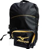 Mizuno  運動後背包-33TD530095-黑配金