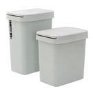 家用按壓式有蓋垃圾桶衛生間帶蓋廁所拉圾筒廚房客廳臥室翻蓋紙簍 安妮塔小铺