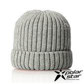 【PolarStar】中性 素色保暖帽『灰』P18602 羊毛帽 毛球帽 素色帽 針織帽 毛帽 毛線帽 帽子
