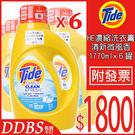 【DDBS】Tide HE 濃縮洗衣膏-清新微風香 1770ml x6 (清新柑橘香)請勿選超商(宅配出貨)