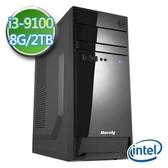 技嘉B365平台【EI391-GB365M04】i3四核 2TB效能電腦