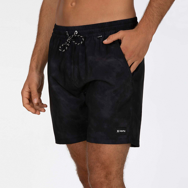 Hurley M PARADISE VOLLEY 17 BLACK 海灘褲-(男)