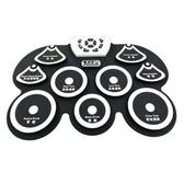 桌面手卷電子鼓便攜式架子鼓新款G101白色練習娛樂演奏