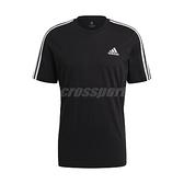 adidas 短袖T恤 Essentials 3-Stripes Tee 白 黑 男款 短T 運動休閒 【ACS】 GL3732