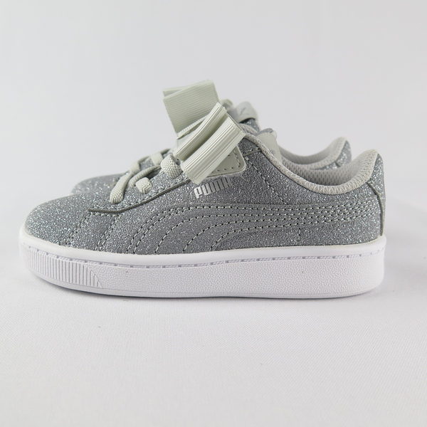 PUMA VIKKY V2 RIBBON GLITZ AC 小童休閒鞋 蝴蝶結 37063503 金蔥灰【iSport】