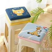 兒童椅墊地上方形軟墊子小坐墊記憶棉凳子【少女顏究院】