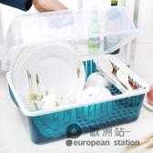 置物架/碗柜塑料廚房瀝水碗架帶蓋碗筷餐具收納盒放碗碟架滴水碗盤