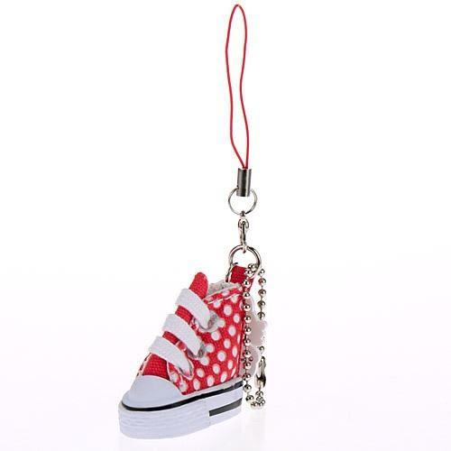 凱蒂貓 帆布鞋吊飾 包包吊飾 手機吊飾 kitty 日本正版 該該貝比日本精品 ☆