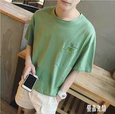 2019夏季男士印花短袖t恤顯瘦潮流個性韓版原宿寬鬆上衣半袖T恤CY1701【優品良鋪】