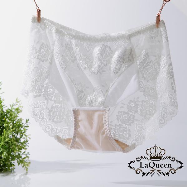 LaQueen 獨家柔軟100%蠶絲小褲(1802 白)