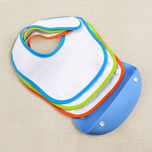 寶寶吃飯圍兜硅膠立體食飯兜兒童吃飯圍嘴嬰兒防水口水巾