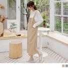《DA8462-》微收腰修身剪裁可調節實搭吊帶裙 OB嚴選