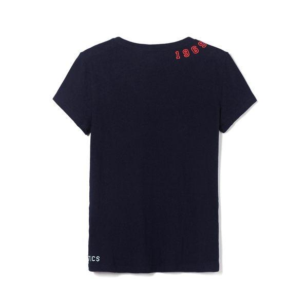 Gap女裝 Logo舒適純棉短袖T恤 440865-海軍藍色