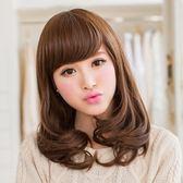 短假髮(整頂)-齊肩斜瀏海微捲短髮女假髮3色73rr51【巴黎精品】