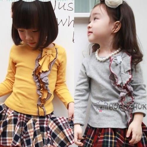 韓版《立體蝴蝶結》氣質長袖上衣
