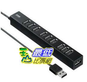 [103 美國直購 ShopUSA] 集線器 SANWA SUPPLY USB-HUB256BK magnet with 10-port USB2.0 Hub (Black) Sanwa Supply..