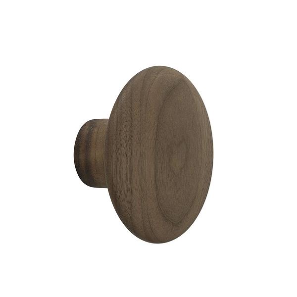 丹麥 Muuto The Dots Wood Coat Hooks 9cm 點點造型 木質 衣帽勾 - 小尺寸 9cm(胡桃木色)