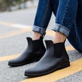 桃園百貨 男士雨鞋低幫時尚春夏季切爾西雨靴