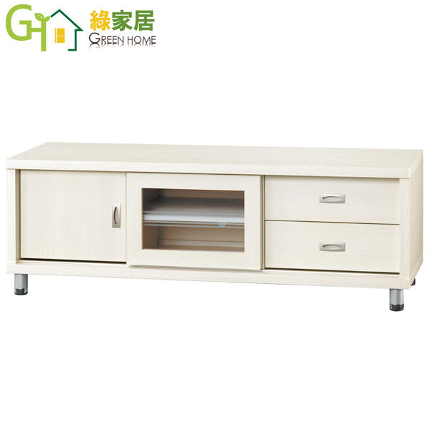 【綠家居】曼莎 時尚5尺二抽電視櫃/收納櫃(二色可選)