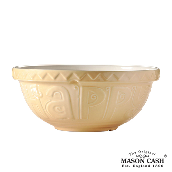 【MASON】BAKE MY DAY系列浮雕陶瓷調理盆26CM(黃)