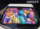 【現貨】日本NAPOLEX 迪士尼 怪獸電力公司 汽車前遮陽擋 段熱 隔熱 降溫 扎實結構 鋁箔段熱 前後檔