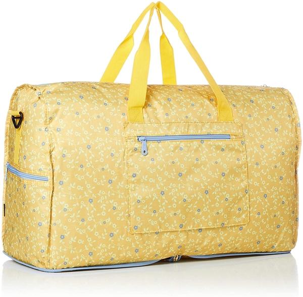 HAPI+TAS 摺疊大旅行袋 - 黃色花朵華爾滋