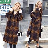 歐美大牌感新款加厚厚重感高品質中長版超長版大口袋羊毛呢外套風衣長大衣花漾小姐【預購】