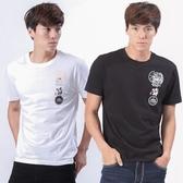 Big Train 幻空五虎將短袖T恤上衣-2件包-男-白+黑