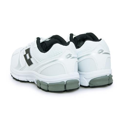 LIKA夢 LOTTO 輕量避震慢跑鞋 ZENITH 白色學生鞋 白黑 3688 女