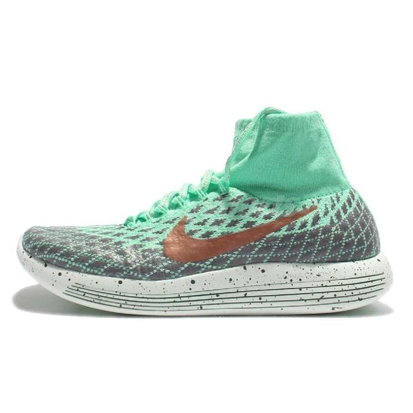 【三折特賣】Nike 慢跑鞋 Wmns LunarEpic Flyknit Shield 綠 灰 女鞋 金勾 襪套式 運動鞋【PUMP306】 849665-300