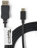 【美國代購】Plugable USB-C to DisplayPort 1.8 米 Adapter Cable 支援4K@60hz (適用 MacBook Pro)