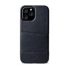 Alto iPhone 12 Pro Max 真皮手機殼背蓋 6.7吋 Metro - 渡鴉黑【可加購客製雷雕】皮革保護套