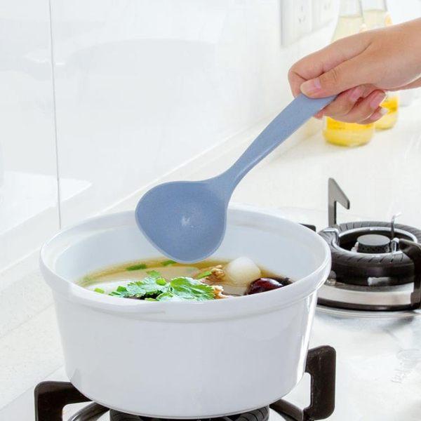 [超豐國際]小麥秸稈湯勺家用長柄盛粥勺廚房廚具塑料加厚大號稀飯勺子