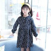 女童洋裝連身裙 秋季8韓版9中大童十12歲韓版清新長袖碎花打底-炫科技