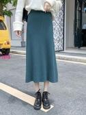 YoYo 針織長裙 秋冬高腰中長款針織半身裙 3色(S-XL)AV1010