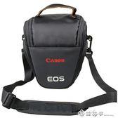佳能單反相機包800D760D750D200D 60D70D80D單反包便攜三角包腰包 西城故事