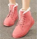 雪靴 秋冬季韓版短筒雪地靴女馬丁靴女短靴