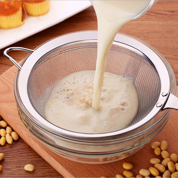 PUSH!廚房用品304不銹鋼濾網勺果汁過濾網勺廚房漏勺豆漿過濾網篩火鍋濾網大號D71-2