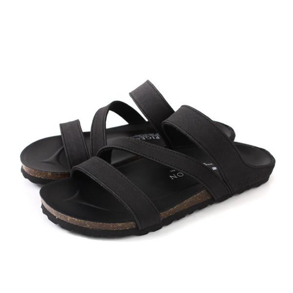 GP (Gold.Pigon) 阿亮代言 涼鞋 勃肯鞋 女鞋 黑色 W702-10 no055