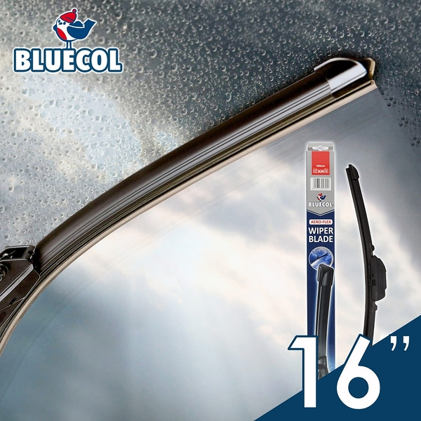 BLUECOL藍雀Aero-Flexible高彈性氣動軟骨雨刷16吋(406mm)