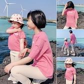 親子裝親子裝母子上衣薄款夏裝短袖T恤網紅款一家三口洋氣母女裝睡衣 貝芙莉