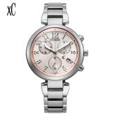 CITIZEN 星辰 XC 光動能計時女錶腕錶 35mm -玫瑰金代言人廣告款 FB1450-53W