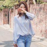 休閒長袖襯衫-時尚流行寬鬆印花女上衣73hs37【時尚巴黎】