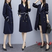 風衣外套 2020年秋季新款法式復古中長款風衣氣質收腰洋氣百搭女裝外套 VK3056