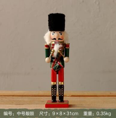 美式擺件胡桃夾子士兵創意可愛卡通人物桌面家居飾品裝飾木偶擺件