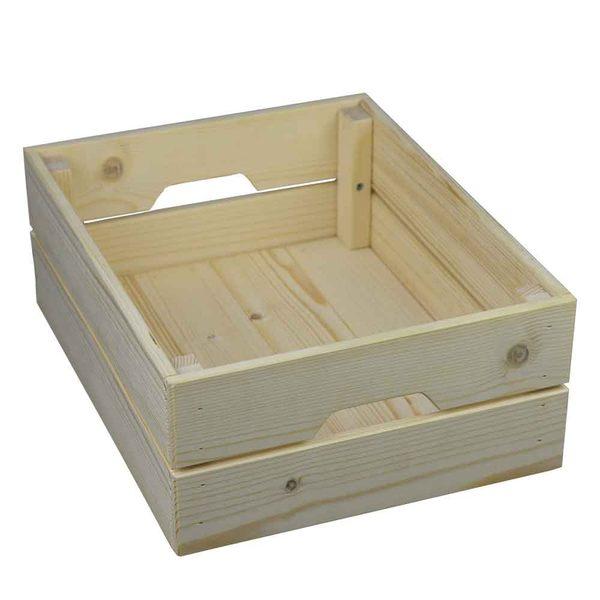 【藝匠】小松鼠實木收納盒(中)收納櫃 家具 組合櫃 廚具 收藏 置物櫃 櫃子 小櫃子(2入)